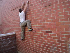 Rock Climbing Photo: The Speedsters test their rubber on the Brick Slay...