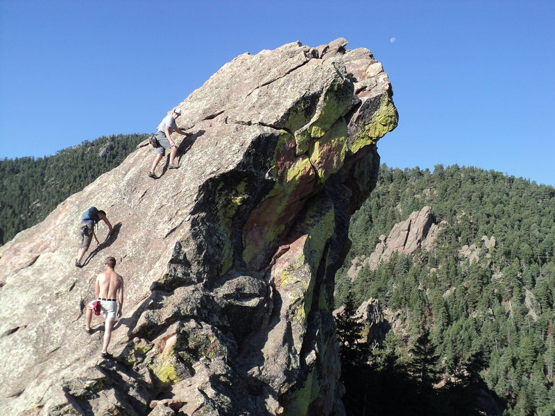 Rock Climbing Photo: A quick run up the First Flatiron before work in J...