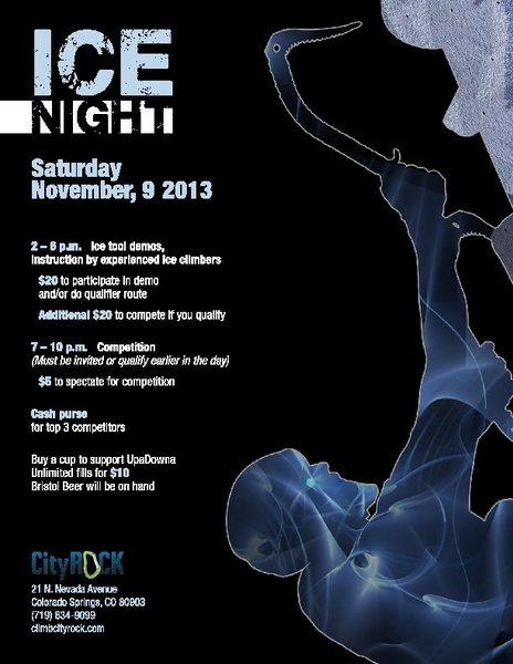 2013 City Rock Ice Night.