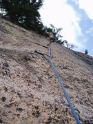 Rock Climbing Photo: Pitch two, main face.