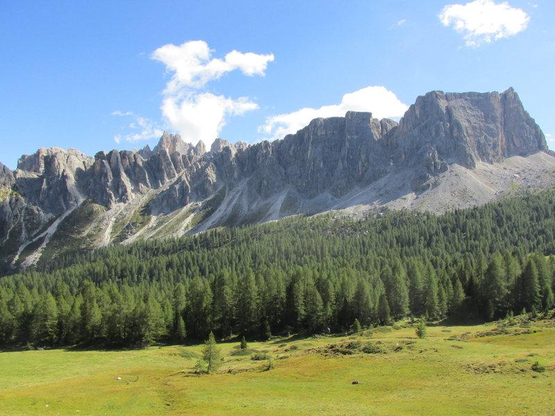 Rock Climbing Photo: Croda da Lago and Lastoi di Formin.