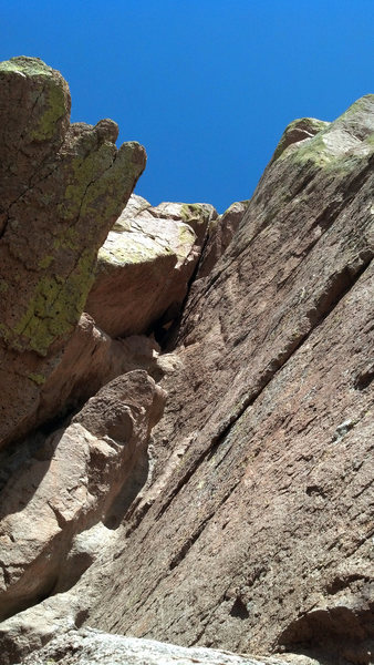 Rock Climbing Photo: Stem Cell Research, the crack as seen from the beg...