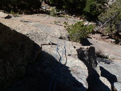 Rock Climbing Photo: Looking down the pitch.