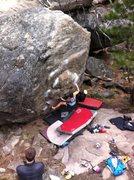 Rock Climbing Photo: Daniel on Funny and Cheap V4 Leavenworth, WA