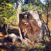 Rock Climbing Photo: christina durtschi floating up the fridge