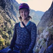 Rock Climbing Photo: christina durtschi preparing for a good time!