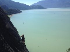 Rock Climbing Photo: jade littlewood cruising up the line