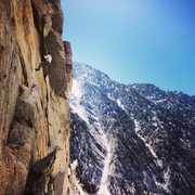 Rock Climbing Photo: local badass eric atwell rapping the route after a...