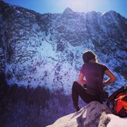 Rock Climbing Photo: christina durtschi collecting her thoughts before ...