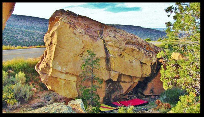 Rock Climbing Photo: Vaginasaur problem beta.