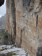 Rock Climbing Photo: Climbers on via Finlandia, seen from summit of Tor...