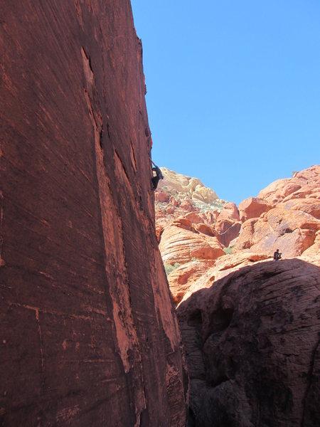 Rock Climbing Photo: Craig high on SALT.