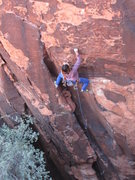 Rock Climbing Photo: Ocean entering the crux during her flash of Salted...