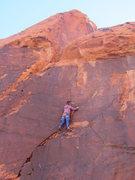 Rock Climbing Photo: Ocean finally approaching the anchors. Second asce...
