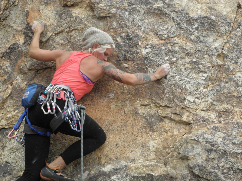 Rock Climbing Photo: Aubrey Adams sending Cat, The Other White Meat...