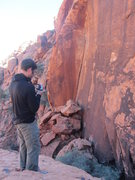 Rock Climbing Photo: Darren taking photos with the start of Strategic A...