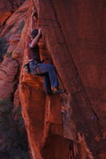 Rock Climbing Photo: Michael on Intercontinental Breakfast. Calico Basi...