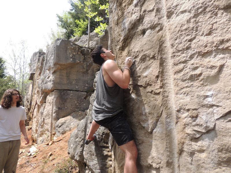Rock Climbing Photo: Working the beta filled Jigsaw