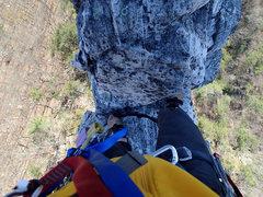 Rock Climbing Photo: gunsight to south peak direct