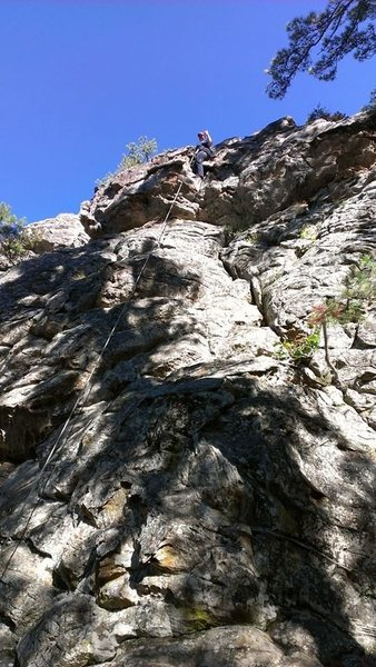 Rock Climbing Photo: Dawn Knam at the top of another way up.
