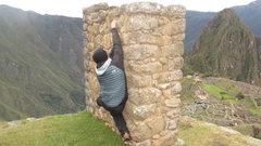 Bouldering in Manchu Picchu