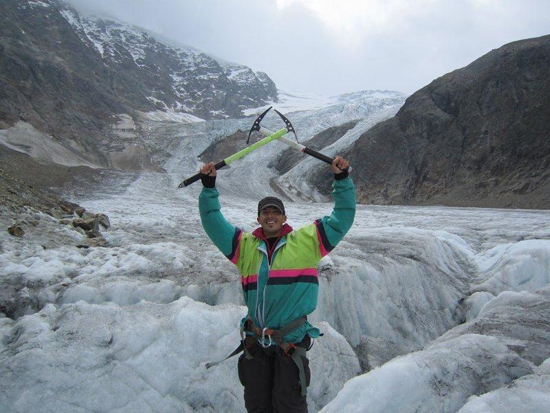 Ice climbing in Swizterland