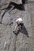 Rock Climbing Photo: Barry Forrest working the crux of Lunging Ledges. ...