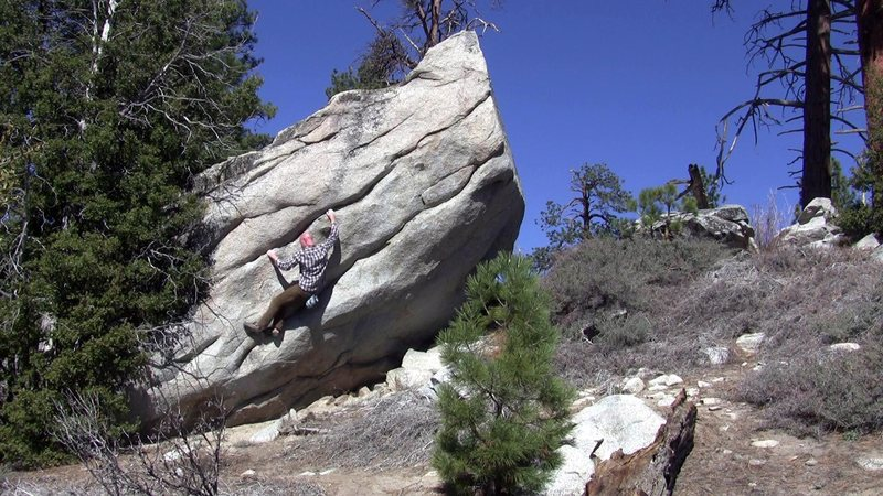 Backcountry bouldering.