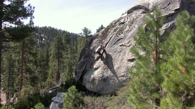 Rock Climbing Photo: Crack with a view.