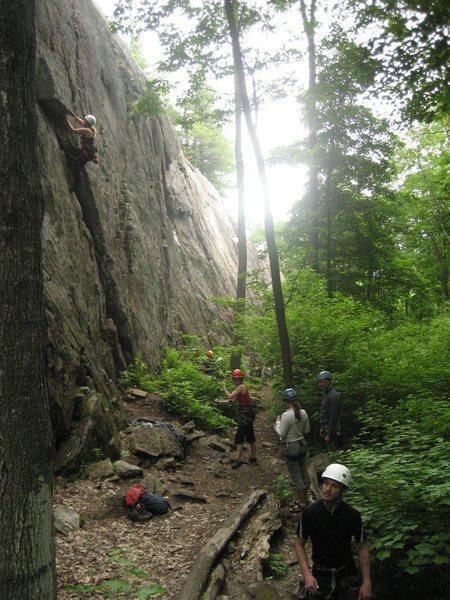 Rock Climbing Photo: muggy, crowded