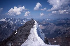Rock Climbing Photo: summit of Edith Cavell.  Ramparts in left backgrou...