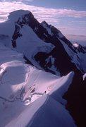 Rock Climbing Photo: Resplendent from Robson-Resplendent ridge. rock wa...