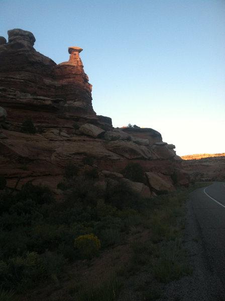 Sunset on Putterman's. Great climb