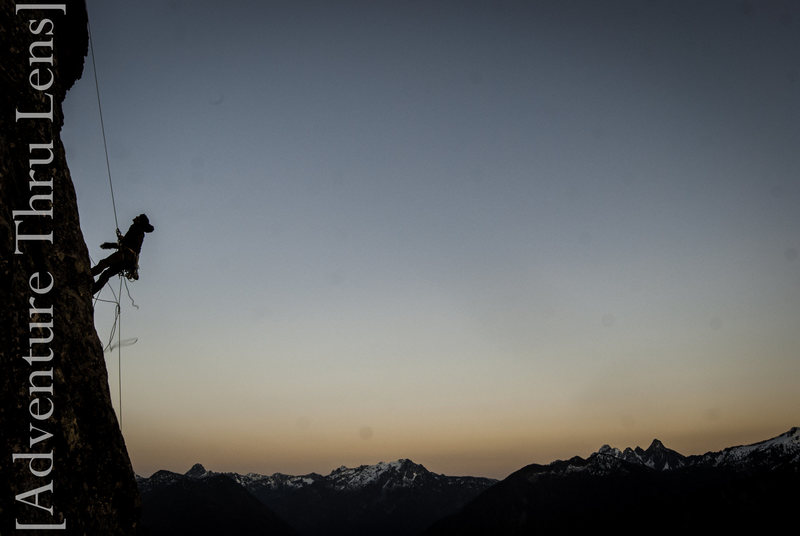 Starting the rappels off the summit.<br> <br> http://facebook.com/adventurethrulens<br> http://patrickbetts.zenfolio.com