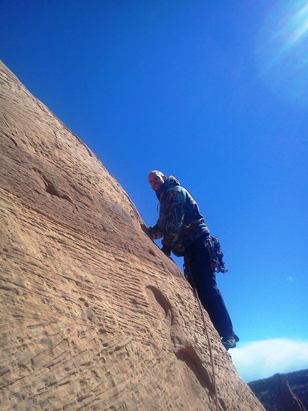 Rock Climbing Photo: Charlie getting ready to sent the last pitch (run ...