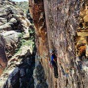 Rock Climbing Photo: Following the pitch three traverse