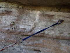 Rock Climbing Photo: Looks like someone replaced one of the bad bolts w...
