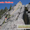 Routes on the Questa Flatiron
