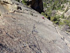 Rock Climbing Photo: Clean face climbing with great position