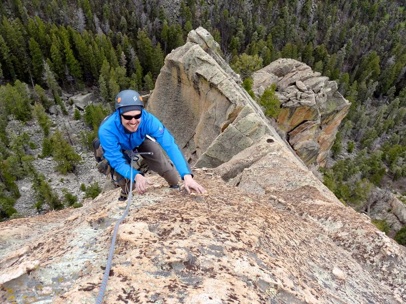 Rock Climbing Photo: Amazing chickenheads may lead to excessive smiling