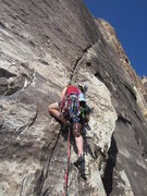 Rock Climbing Photo: The wonderful P2. We're a long way from NH! A grea...