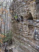 Rock Climbing Photo: Canadian gal we met, route bordering Buddha Bowl