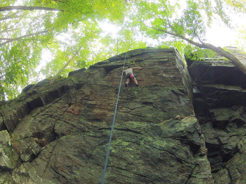 Deven on the face climb