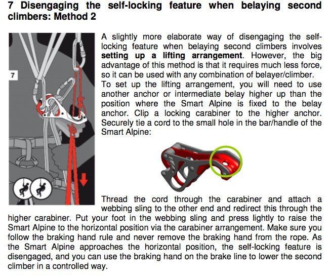 smart alpine autobloc lowering instructions