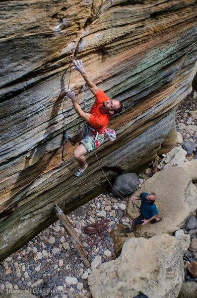 Local sport developing fiend, Matt Greco, unlocking Uncle Kentucky 5.13-, James Canyon, AZ