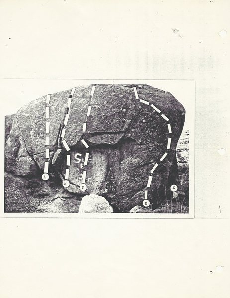 Pages from the 1987 Granite Point guidebook.