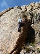 Rock Climbing Photo: A quick warm-up.