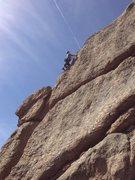 Rock Climbing Photo: The upper aréte.