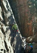 Rock Climbing Photo: Eric giving me a catch on this slabbiness (Credit:...