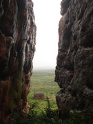 Rock Climbing Photo: Go just right of the temple to find these two wall...